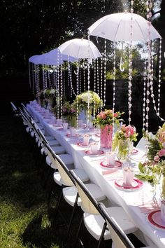 Garden Parasol With Tassels And Ribbons Gardens Tassels And