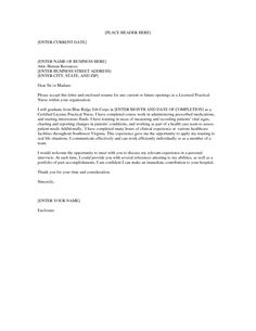 LPN Cover Letter for Resume  Creative Resume Design