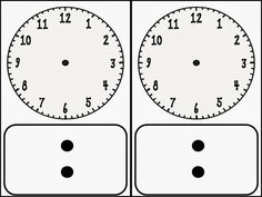 Clock faces, Blank clock and Clock on Pinterest