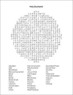 Related Keywords & Suggestions for holy eucharist word search