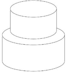 DIY tiered cake outline! Lots of room to sketch...great