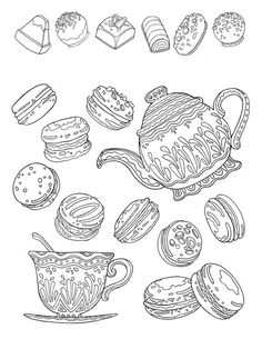Macaron Coloring Pages Coloring Pages