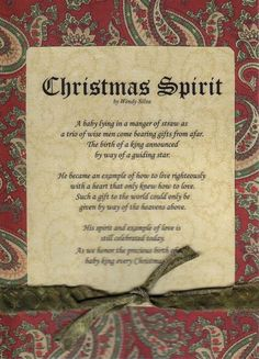 1000 Images About Christmas Poems On Pinterest