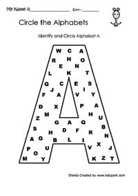 Identify and Circle Z Alphabet Worksheet,Teachers