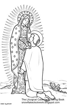 Immaculate Conception Catholic coloring page. Feast day is