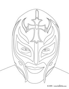 Rey Mysterio Mask Coloring Pages it