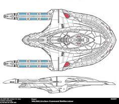 Colored schematic of Deck E; Columbia-class starship; U.S