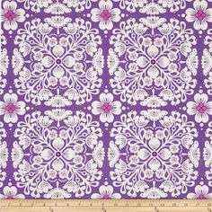 Lavender Quatrefoil Fabric By Sparrowsong On Spoonflower Custom
