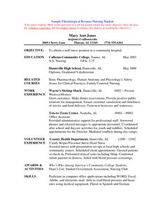 student nurse resume examples - Resume Examples For Nursing