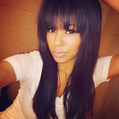 Long Weave Hairstyles With Bangs Wavy Hairstyles Pinterest