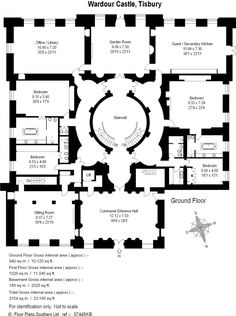 10 Downing St., London. Ground Floor. Plan published in