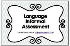 Preschool SLP Evaluation Forms: Play Based Assessment