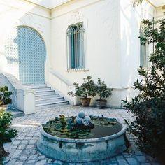Vue De Sidi Bou Said Aquarelle Tunisie Dessin