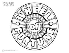 Free Downloads: Wheel of Fortune Coloring Page: The Wheel