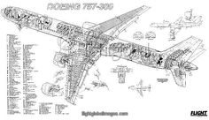 Boeing P-8A Poseidon cutaway poster as Photographic Prints