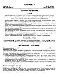 Examples Of Business Analyst Resumes