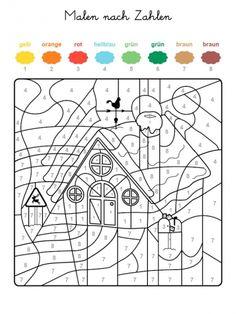 Ausmalbild Malen nach Zahlen: Torte zum 9. Geburtstag