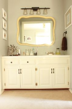 yellow and grey bathroom mirror 1000+ images about Gray & yellow bathroom ideas! on