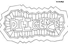 Character Traits Coloring pages, lots of other words to