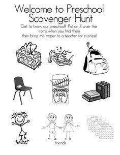 1000+ ideas about Preschool Scavenger Hunt on Pinterest