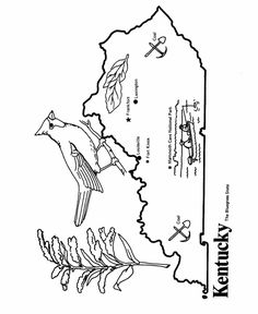 Alabama State outline Coloring Page-May use this for our