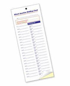 Comdocs21526829silent Auction Bid Sheet Silent