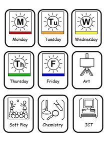Twinkl Resources >> SEN Visual Timetable for School