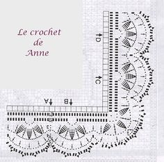 1000+ images about Bordure au crochet on Pinterest
