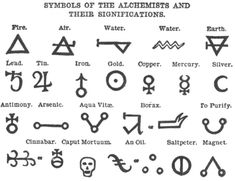 Alchemy symbols, Symbols and meanings and Symbols on Pinterest