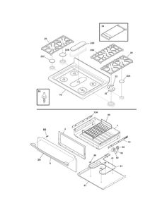 CASE PARTS Diagram & Parts List for Model 79579293902