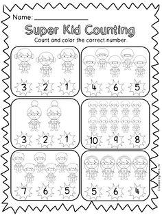 Twinkl Resources >> Superhero Counting Worksheet