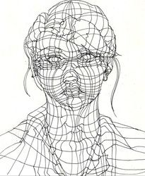 1000+ images about art, cross contour drawing on Pinterest