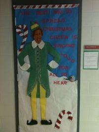Christmas classroom door, Buddy the elf and Classroom door ...
