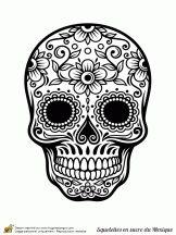 Coloring pages... Mexican Skulls Drawings Sugar skull