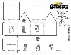 Paper houses, Halloween templates and House on Pinterest