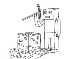 Minecraft, Coloring and Coloring pages on Pinterest