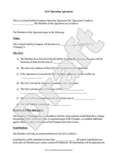 Free Multiple Member-Managed LLC Operating Agreement