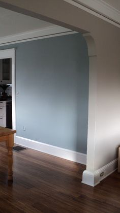 Living In The Rain Garden Room Is Painted Sherwin Williams Amazing Blue Grey