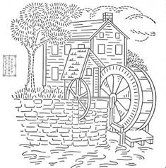 Watermill Coloring Pages Coloring Pages