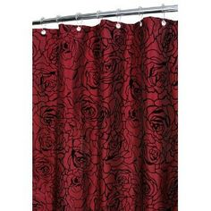 Love Flower Floral Red Rose Shower Curtain Bathroom Decor Fabric