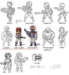 Concept art: X-COM UFO, CyberDisc, Sectoid, Celatid