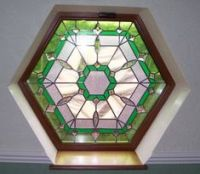 Octagonal shaped stained glass window | Stained Glass ...