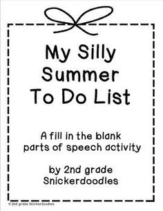 Silly Superlatives End of The Year Activity--Kids could