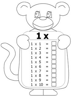 Times tables, Worksheets and Multiplication tables on