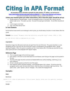 Apa Format Essay Example Paper Middle School Paper And Research