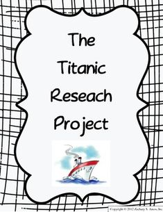 Titanic Video Writing Prompts with options for K-12