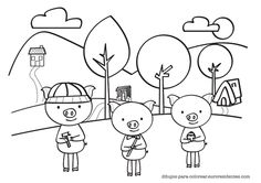 3 Little Pigs {Retelling a Story} Storyboard and Character
