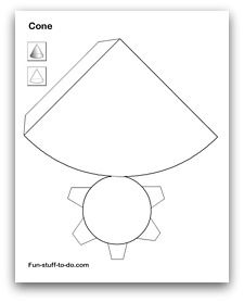 TONS of 3d geometric shapes to cut and fold. FREE