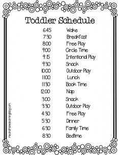 1000+ images about Toddler, Schedule on Pinterest