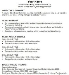 Examples Of A High School Resumes We Are Sure That You